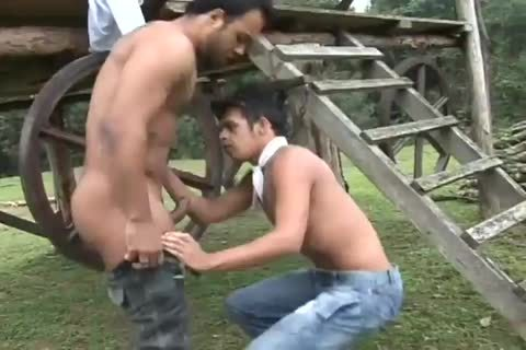 Latino males unprotected lusty gay booty In A Ranch