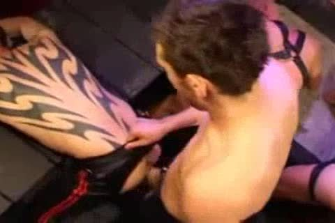 Leather butthole slamming And Fisting