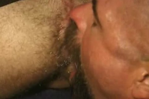 Two bushy boyz Felching An butt Of sperm.  Titpig Is A Feature In This One, With Close Ups Of His Tongue And Great Goatee Highlight Him Teasing The butthole.  At One Point The lad Farts, And It Doesn't Faze Titpig At All.  do not Know Where The Clip