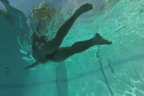 Swimming naked In Slow Motion, Including Some Underwater Dancing