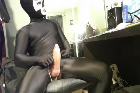 twink Wanted To Buy This Suit And Mask From Me. Here Is The Last Load previous to The Exchange Of lusty Spandex For cash