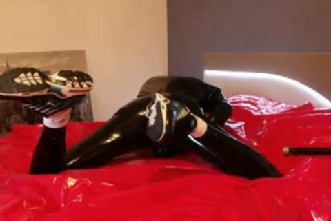 young wanking In dark Latex juicy Very Very large knob