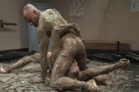 Mud Wrestling bondage ass