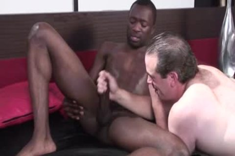 black gay chap gets Jerked Off