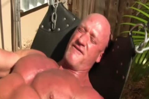 Muscly old bareback