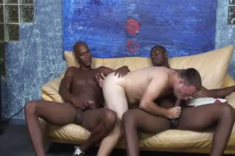 darksome studs Sharing The anal Of A White lad