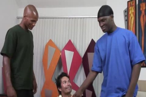 black dudes Sharing A South-american guy