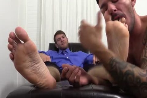lewd Colby Jerks Hard penis During Foot Worship From Johnny