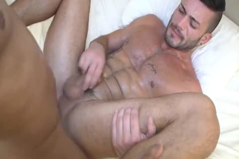 Hunks With Monster rod bare