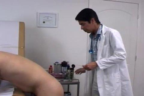 College lad strips For His Doctors fantasy That Comes To Life