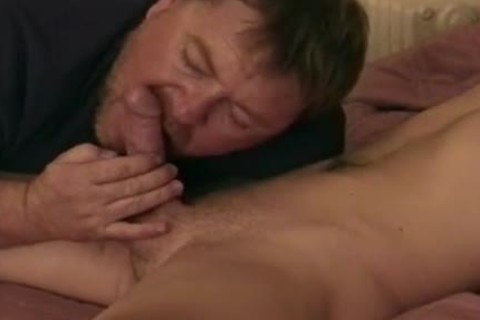 sperm Hungry Auntie Bob engulfing On naked Joeys monstrous twink 10-Pounder