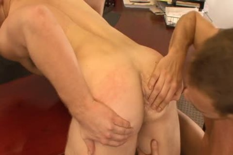 tasty homosexual men take up with the tongue And Hump butts In The Office