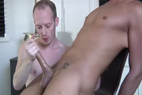 Blindfolded guy gets Wanked Off By large penis Felix Chase