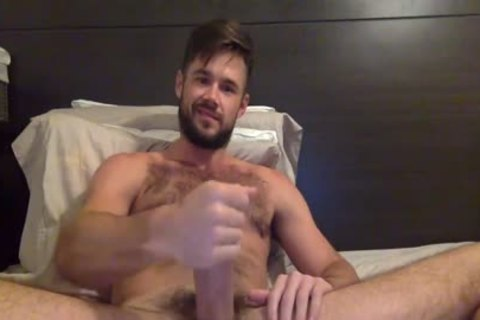 Porn Star Mike De Marko Strokes His large palpitating penis