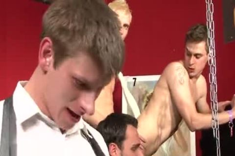 wicked Cub butthole gangbang
