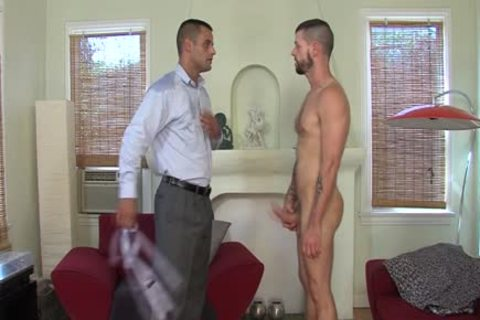 Muscly Hunk Swallows sperm
