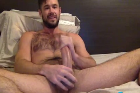 Mike De Marko Jerks Off His large Porn Star dick