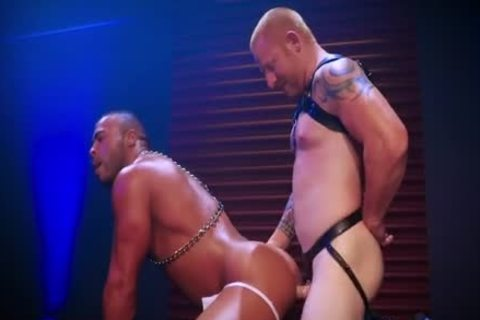 Leather Daddy Intensely Tops Sweaty ebony Hunk