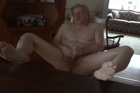 Daddy Masturbating nude In The Kitchen
