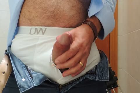 Teasing And wanking A valuable Tool With Precum In Some White Boxer underwear