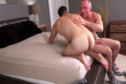 Muscle gay ass stab And cumshot