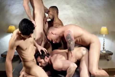 pretty homosexual DP With ejaculation