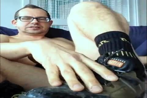 Steeltowed Worker Shoes And My undressed cock