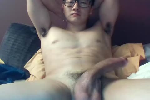 A large Dicked South Korean man Jerks And Cums