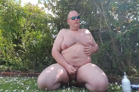 plump chap Has greater quantity pleasure In The Garden