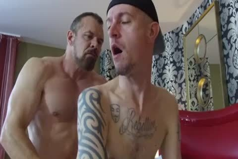 Robert Rexton get's screwed By Muscle Daddy's Max Sargent & Chance Caldwell