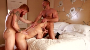 attractive lad - Dirk Caber and John Magnum butthole hammer