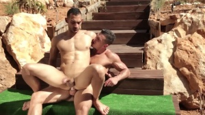 males In Ibiza - Paddy O'Brian & Juan Lopez ass Hook up