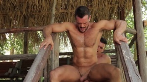 males In Ibiza - Paddy O'Brian and Denis Vega ass bang