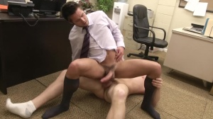 The Office prostitute three - Connor Maguire & Mike De Marko anal Hump