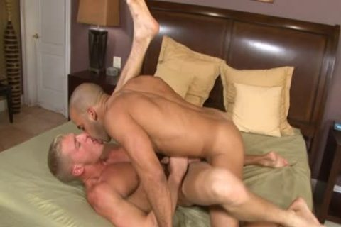 Stuffing His gigantic man dick Into A horny, Pink asshole