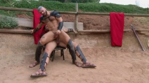 Sacred bunch Of Thebes - Francois Sagat with Ryan bangs butt Hump