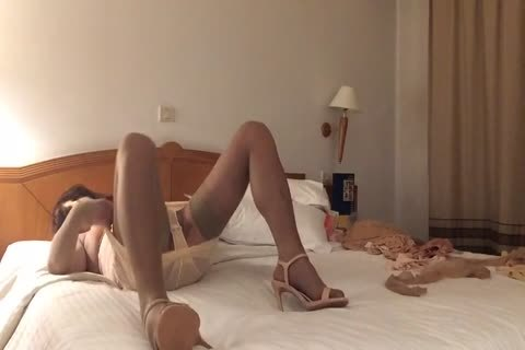 fake penis In naked nylons And High Heels
