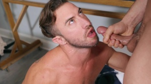 Projecting cock - Johnny Rapid with Grant Ryan a bit of anal