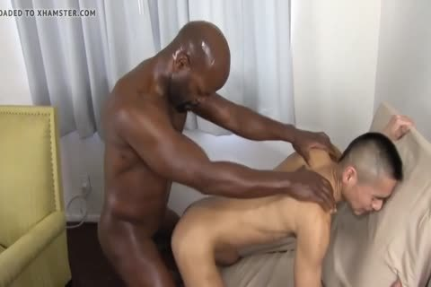 darksome Daddy Chokes A lad With His dick