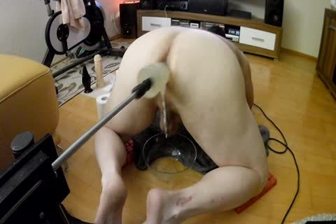 Fuckingmachine And 6 Dildos In A Row! monstrous O Over monstrous O!