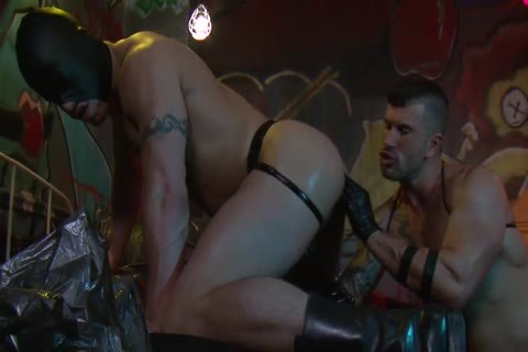 Adam Killian In Latex Forces Jesse Santana To lick His butt