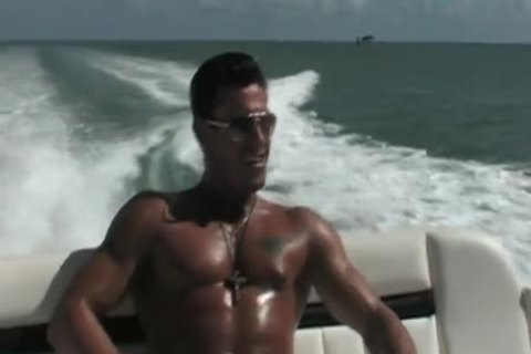 Javier stripped On A Boat