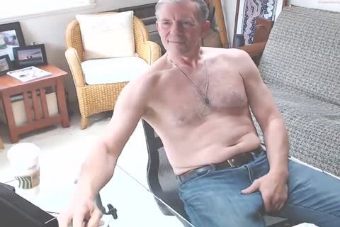 large Dicked dad jerking off 002