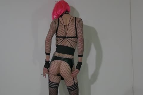 fine Crossdresser Partying At Home In excited Outfit