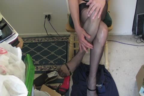 black RHT stockings, Heels And sperm