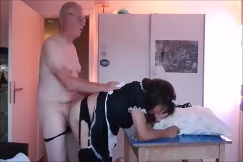 Maid Sissy Cleans abode Sucks dong receives poked