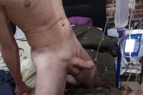 Inflating And Filling dick By Medical Pump