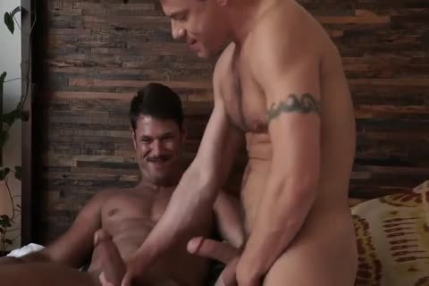 Jesse Santana pokes His friend Tyler Roberts bare