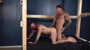 Blowjob with Blake Ryder in tandem with Brendan Patrick