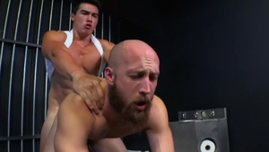 Dustin Steele next to muscle Axel Kane